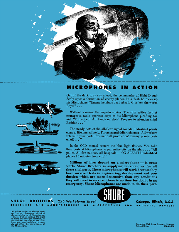 Shure 1942 catalog page