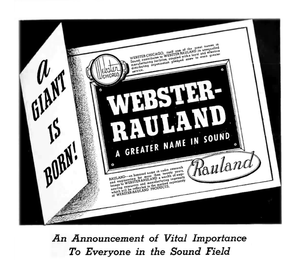 webster Rauland merger